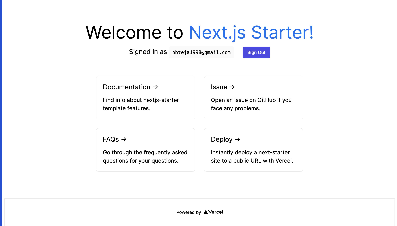 Nextjs Starter